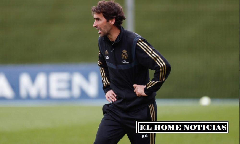Raúl ha estado entrenando al segundo equipo del Real Madrid desde 2019.