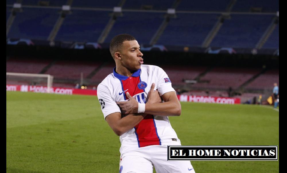 El delantero Francés celebra su tercer gol de contragolpe frente al Barcelona. Quien feliz le regala su camiseta al peleador Ruso