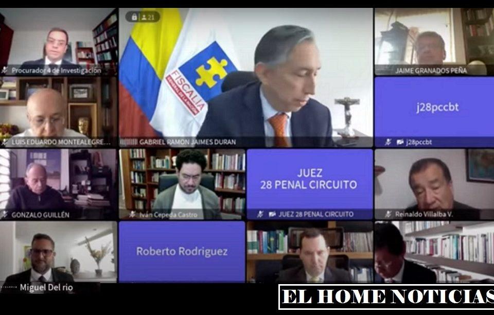 Audiencia contra Álvaro Uribe.