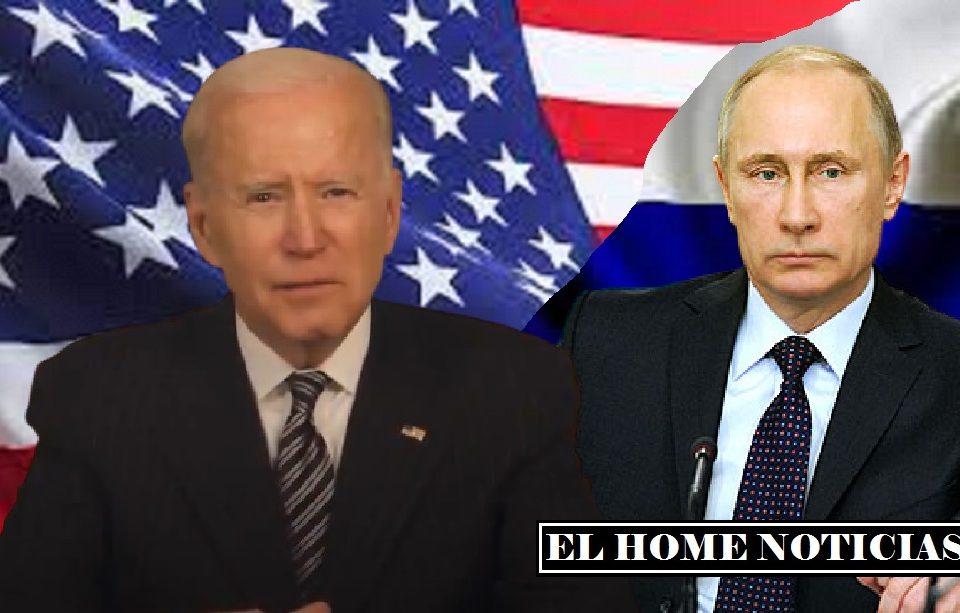 Joe Biden y Bladimir Putin.