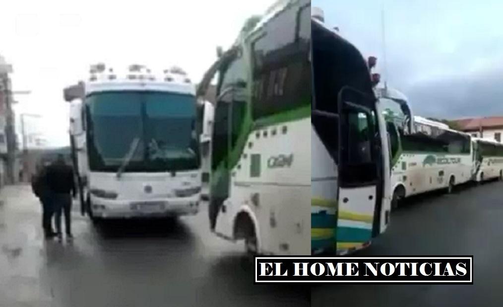 Buses con venezolanos