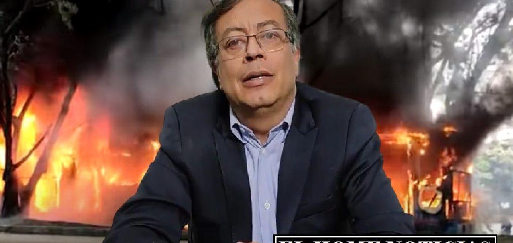Gustavo Petro incendiario.
