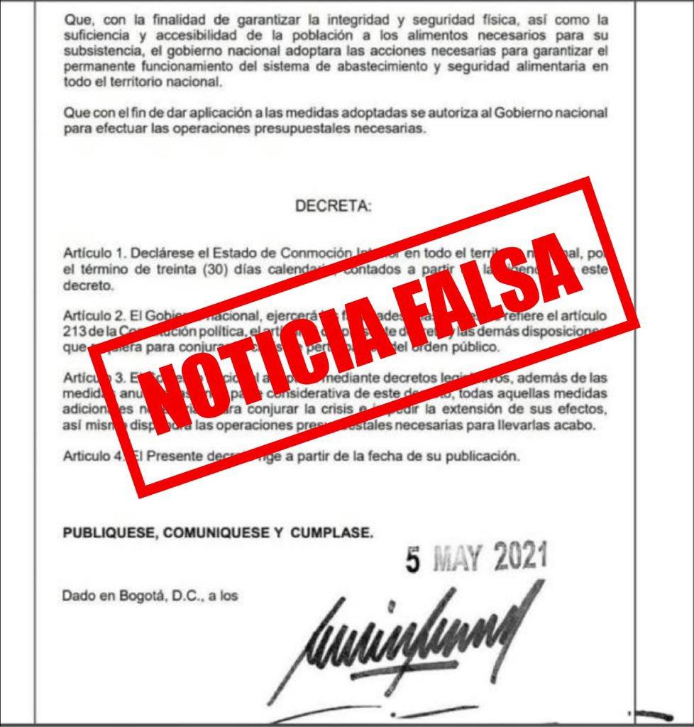 Documento falso.