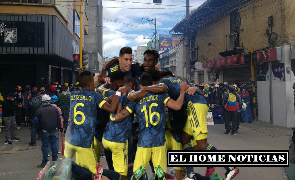 Selección Colombia y las protestas.