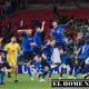 Los italianos celebran su pase a la final, la cuarta en su historia.