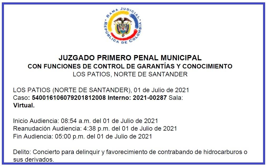 oficio de juez ordenando libertad de Hernán Toloza