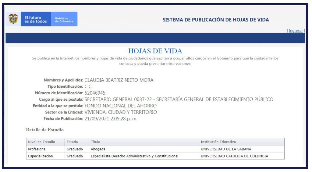 Claudia Beatriz Nieto Mora